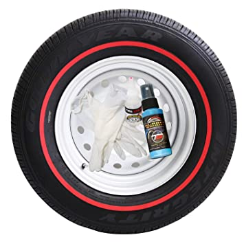 Redline Tire Rubber Stripe - (ALL 4 Tires) D.I.Y. Red Line Kit - CUSTOM