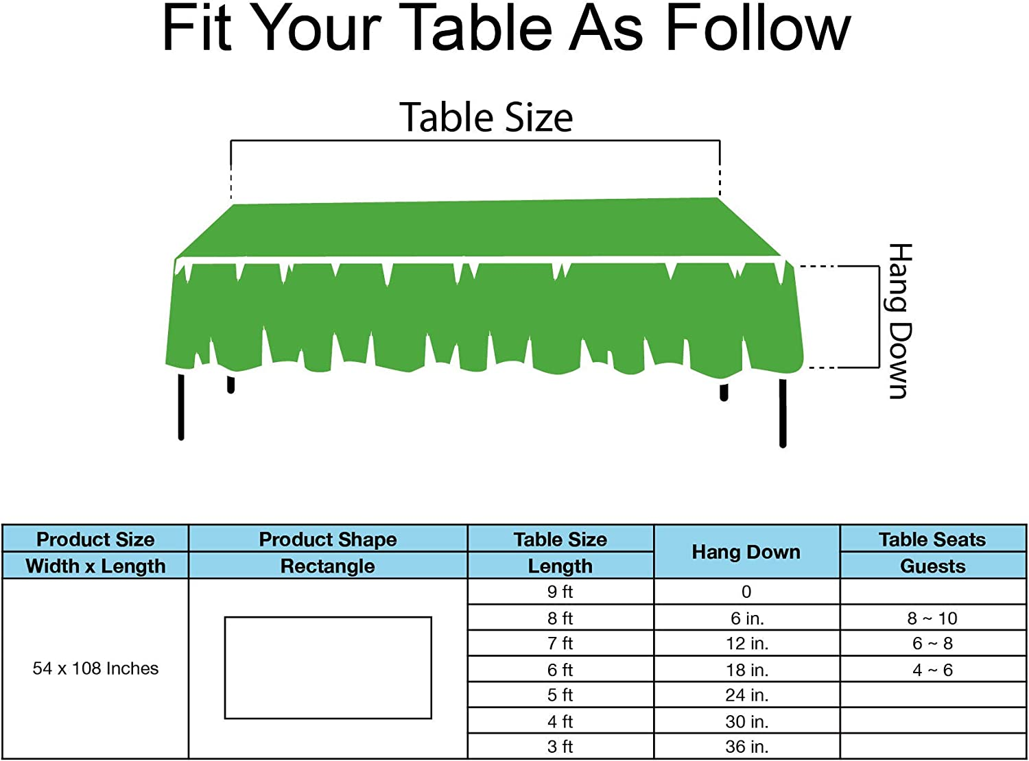 Brown Plastic Tablecloths Disposable Table Covers 6 Pack Premium 54 x 108 Inches Table Cloth for Rectangle Tables up to 8 Feet and for Picnic Birthdays Weddings any Events Occasions PEVA Material