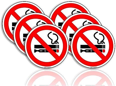 6 x No Smoking Stickers 75mm waterproof vinyl signs window car taxi van shop