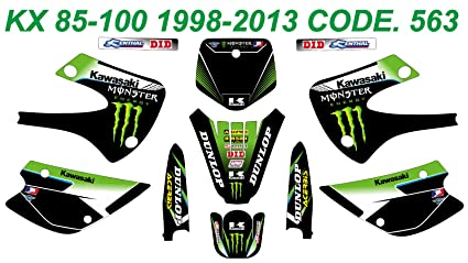 Cool Amazon Com 563 Kawasaki Kx 85 100 1998 2013 Decals Stickers Gamerscity Chair Design For Home Gamerscityorg