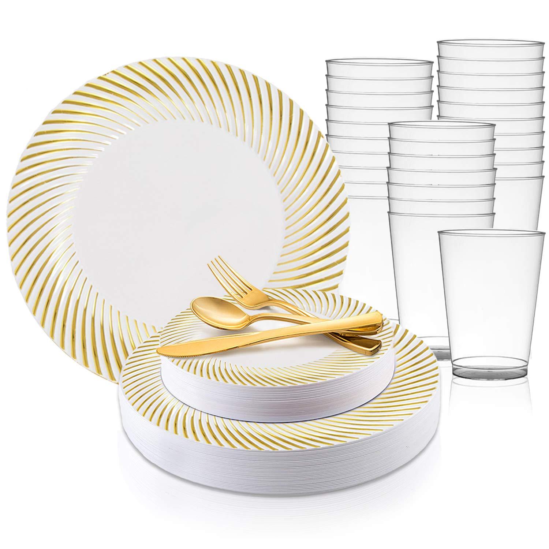 "12 pcs Silver Flared Rim Plastic 9/"" Round Plates Disposable Party Wedding SALE"