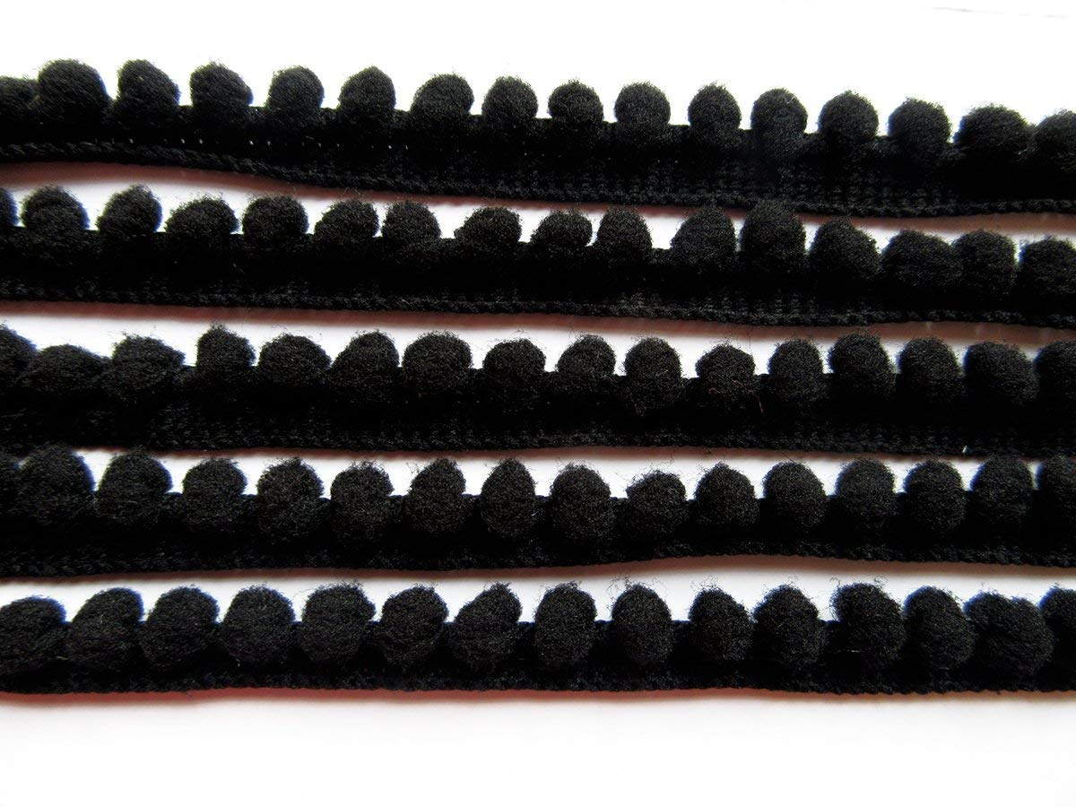 pom Size 5mm YYCRAFT 10 Yards 3//8 Wide Tiny Pom Pom Ball Fringe Trim DIY Craft Sewing Accessory for Home Curtain Clothes Pillow Decoration Grey