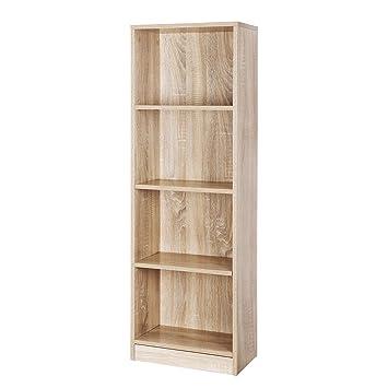 Estantes Para Archivos Oficina.Vasagle Estanteria Para Libros Con 4 Compartimientos Libreria