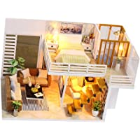 MagiDeal DIY Handcraft Miniature Wooden Doll House Project Kit w/ Light Music Box 1#