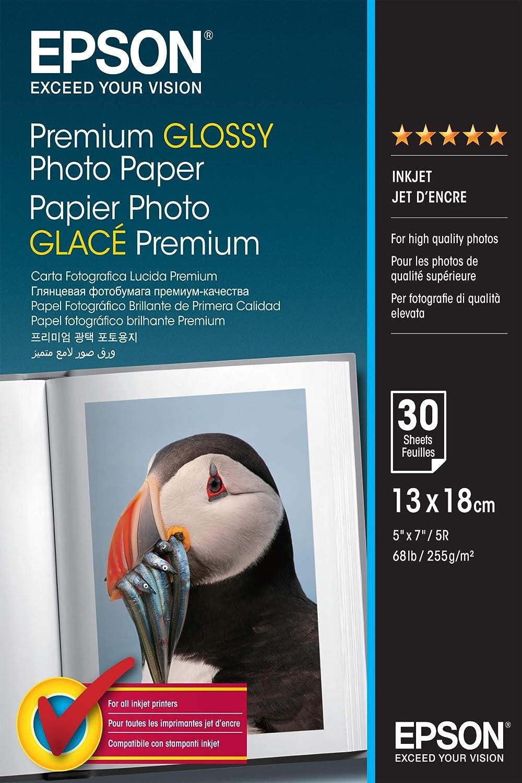 Epson Premium Glossy Photo Paper - Papel fotográfico, 13x18 ...