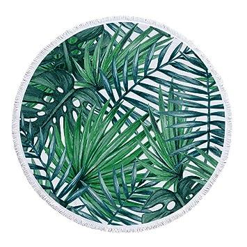 Sabarry Toalla de Playa Grande, Microfibra Toalla Redondo, Toalla de Sauna XXL ZusenZomer Toalla de Ducha,, Talla única: Amazon.es: Jardín