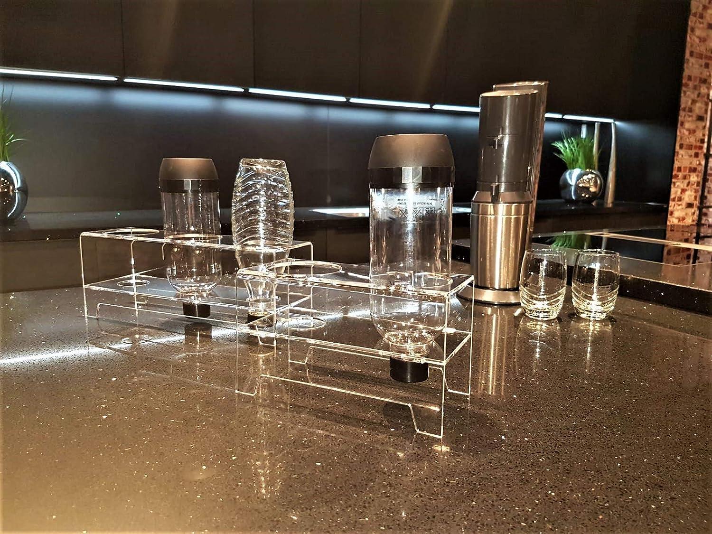 flexiPLEX Juego de 2 bottledry Triple Escurridor Plana y Soporte ...