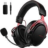 Mpow Auriculares Gaming para PS4, PC, Xbox One, Estéreo Cascos Inalámbricos para Juegos con Micrófono con Cancelación de…