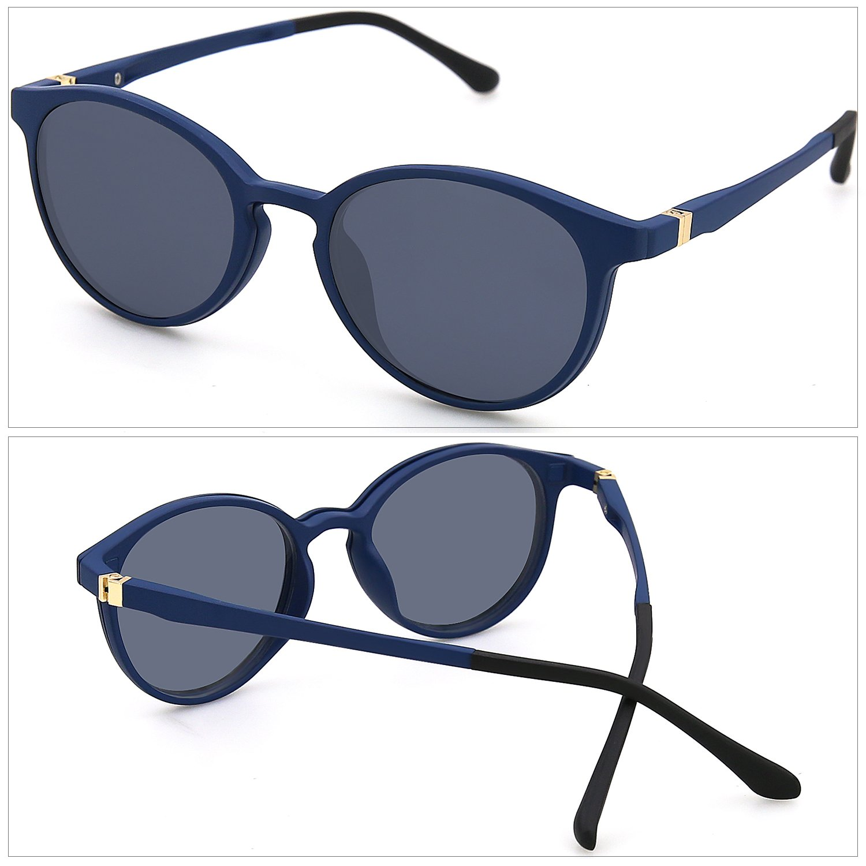 ZENOTTIC 2 en 1 Clip magnético en gafas de sol para gafas graduadas Hombres  Marco flexible 6eeceab8fa