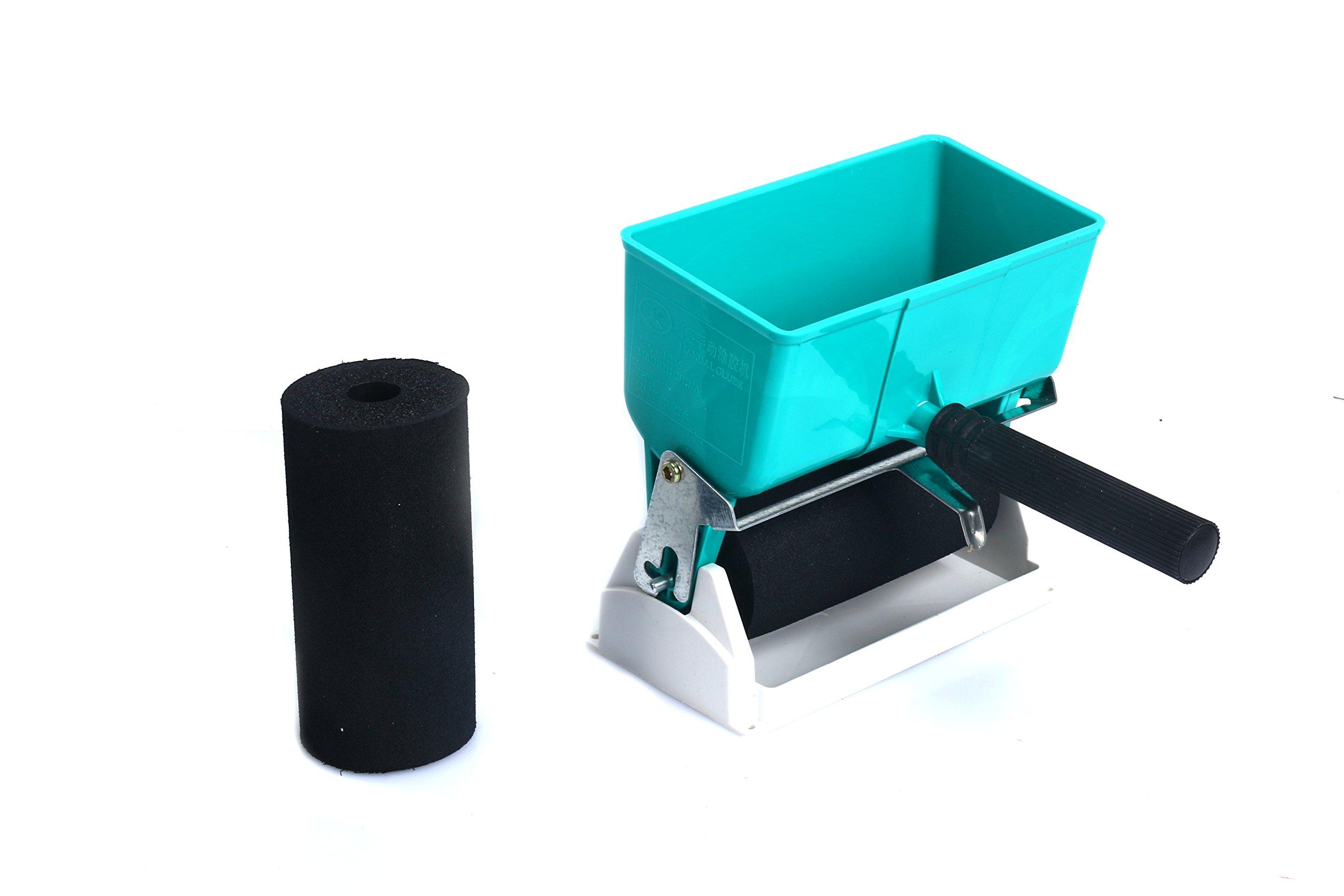 YaeTek Professional Handheld Glue Spreader Adjustable Glue Applicator Coated Glue Roller for Spreading Adhesives - PVC Glue Latex Wood Glue Applicable Leather Woodworking Carton Furniture (6 Inch)