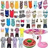 Miunana Lot 12 Pcs Handmade Doll Clothes and Accessories Set for Ken and 11.5 Inch Dolls  Random 3pcs Swim Trunks for Ken + 5