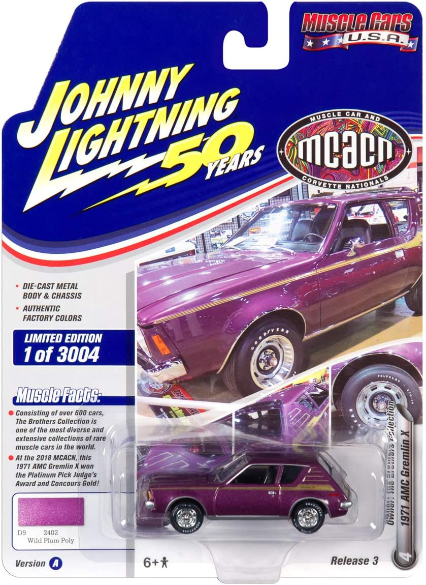 Version A Johnny Lightning 1:64 Muscle Car USA Die Cast Release 3 2019