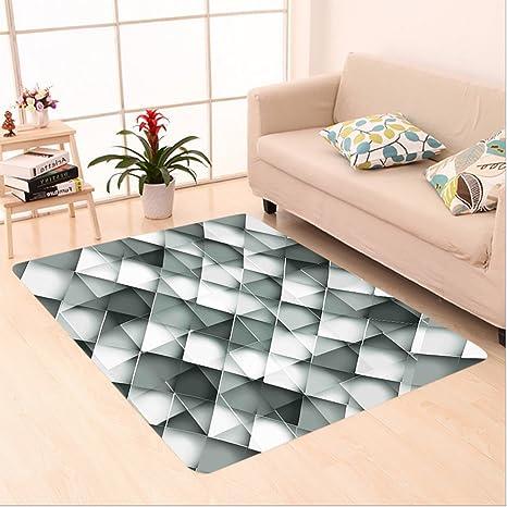 Amazon Com Nalahome Custom Carpet Decor Geometric Design With Grey