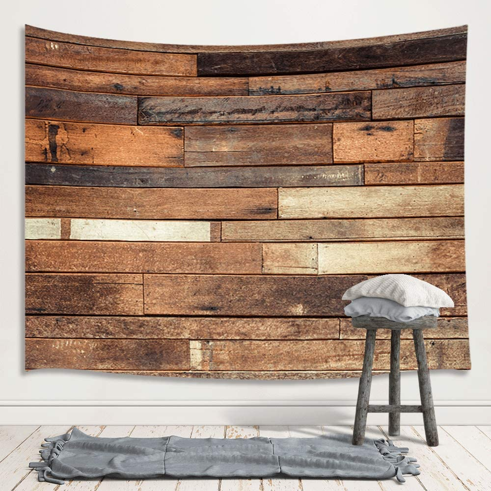 Amazon Com Rustic Wooden Board Wall Tapestry Wall Hanging Vintage Wood Plank Farm House Floor Premium Home Art Wall Decor Upgrade Tapestries For Bedroom Living Room College Dorm 71x60 Inches Home Kitchen