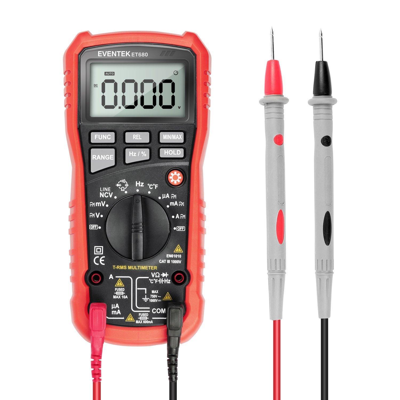 Digital Multimeter Eventek Et680 Multi Tester Auto Ranging For