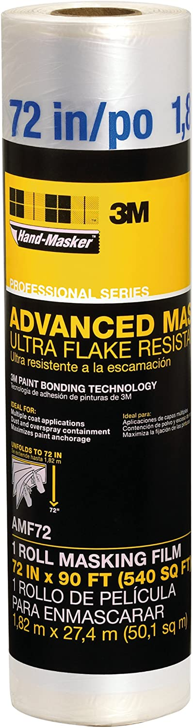 Hand-Masker AMF72 Advanced Film Masking fim, Surface protecter, Dust barrier, 72-Inch, Clear