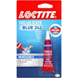 Loctite  Heavy Duty Threadlocker, 0.2 oz, Blue 242, 12 Pack