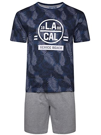 625a3361ba Mens Top & Short Pyjama Set T-Shirt Pjs Top Cotton Jersey Set M L XL XXL