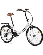 Moma bikes Top Class Blanca, Bicicletta Pieghevole Unisex Adulto, Unic Size