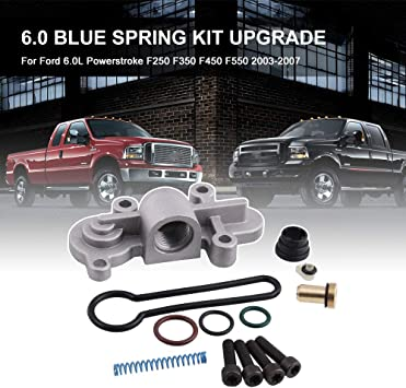 3C3Z9T517AG RYANSTAR 6.0 Blue Spring Kit Upgrade Fuel Regulator Kit for Ford 6.0L Powerstroke F250 F350 F450 F550 2003-2007 Ford Excursion 2003-2005 Replaces 3C3Z-9T517-AG