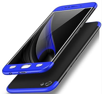 save off 8dddf 1ba2b Bounceback ® Vivo V5/V5s/Y66 Case 3 in1 360º Anti Slip Super Slim Back  Cover for Vivo V5/V5s/Y66 (Black & Blue)