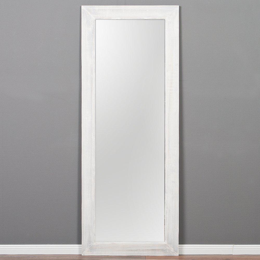 LEBENSwohnART Spiegel Linda 180x70cm Weiß Weiß Weiß Washed Blauglockenbaum-Holz massiv Wandspiegel 67cbd7