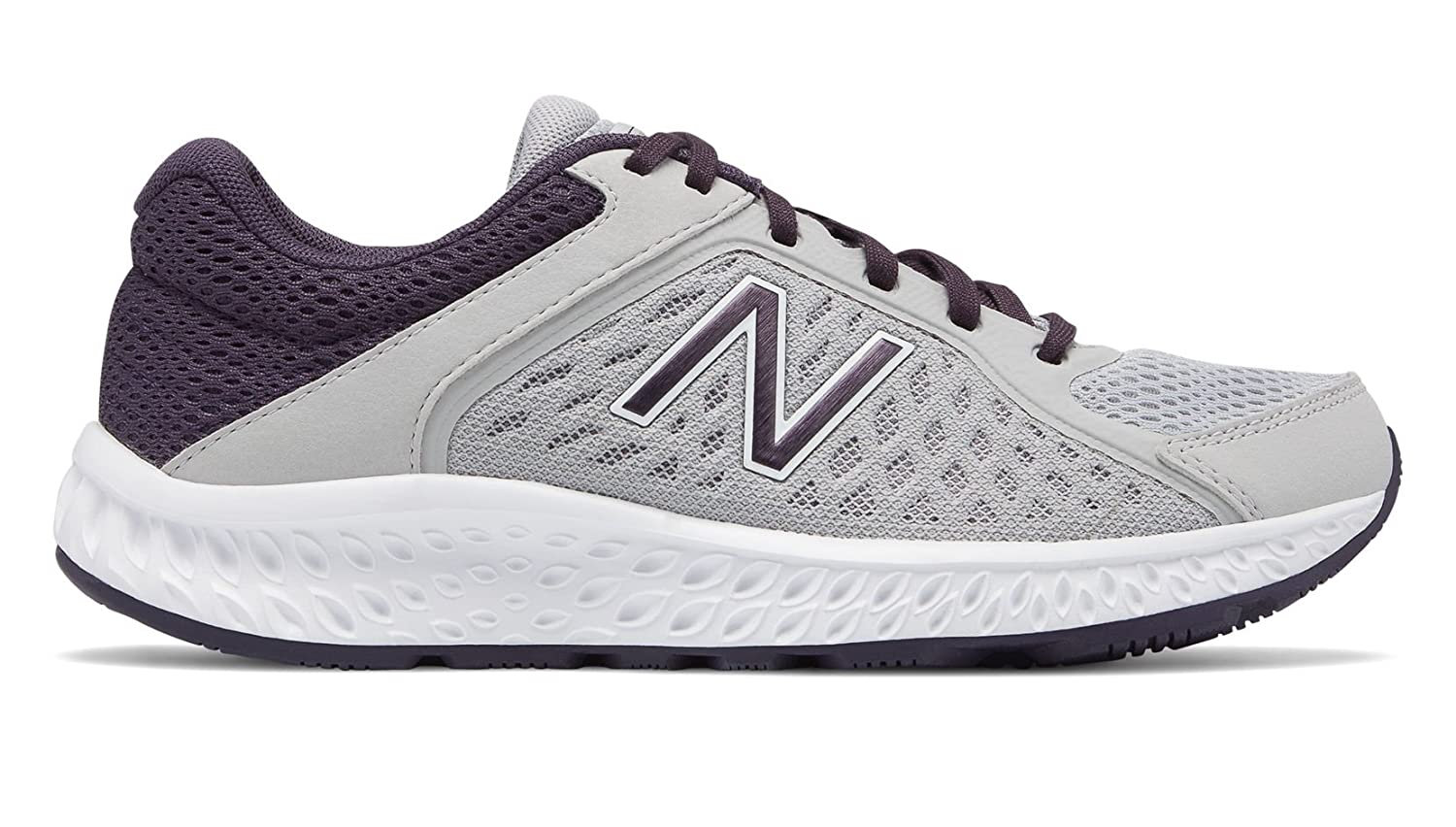 New Balance Women's 420v4 Cushioning Running Shoe B0791TW173 8 D US|Rain Cloud/Elderberry/White