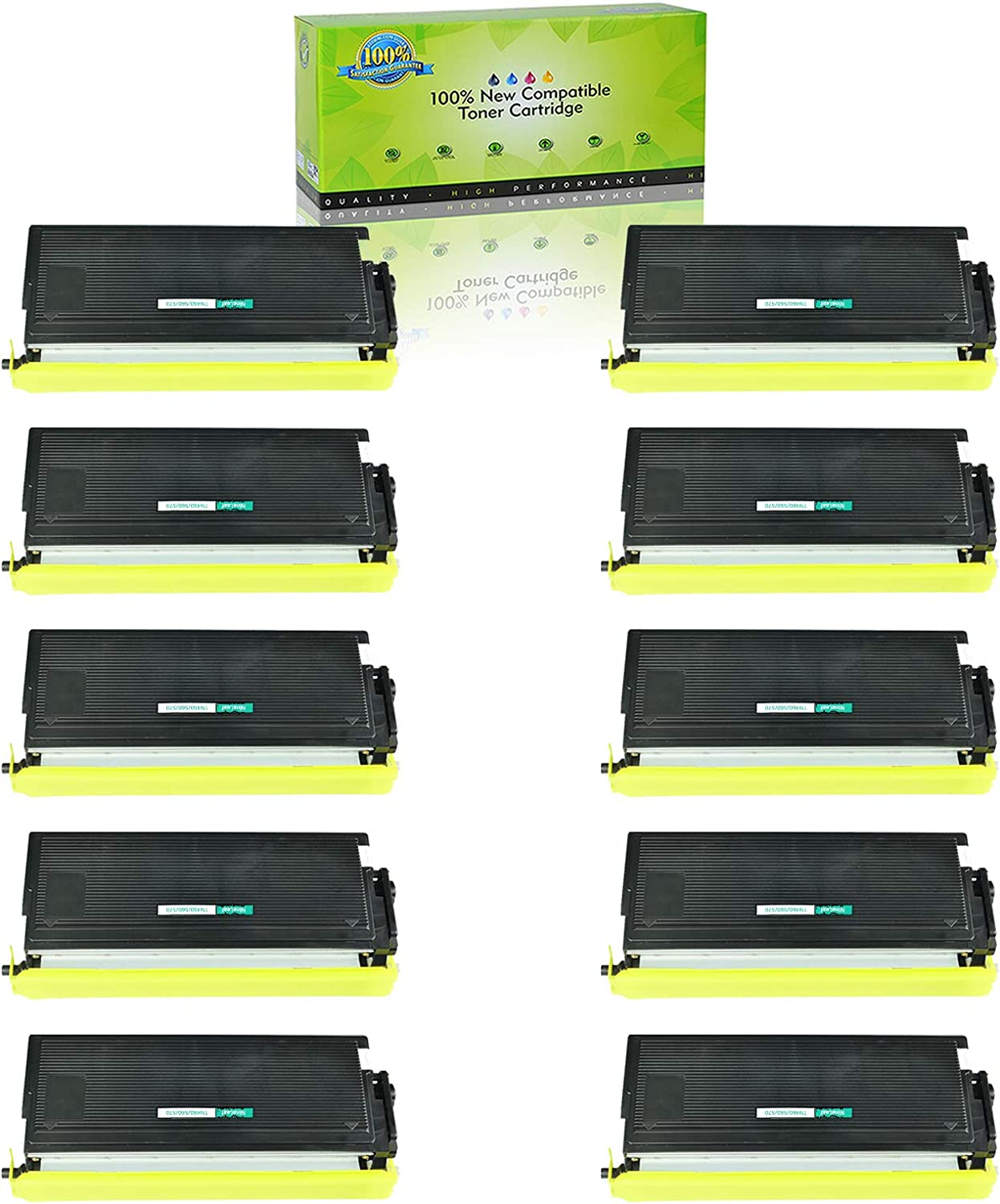 2 PK HIGH YIELD TONER CARTRIDGE for BROTHER TN560 TN-560 DCP-8020 8025D Printer