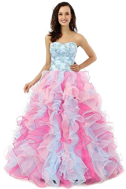 a4aaf310a Beauty-Emily sin tirantes de bola Escote Corazón bordado del vestido de  Escote Corazón sin mangas acodado  Amazon.es  Ropa y accesorios