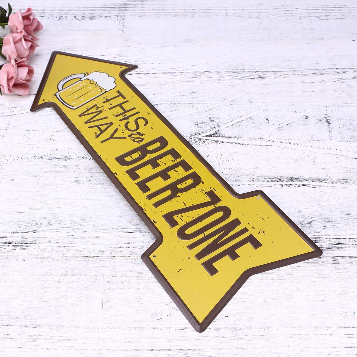 Vosarea Fl/èche Signes R/étro Bi/ère de dEtiquette dIndicateur pour D/écoration de Bar