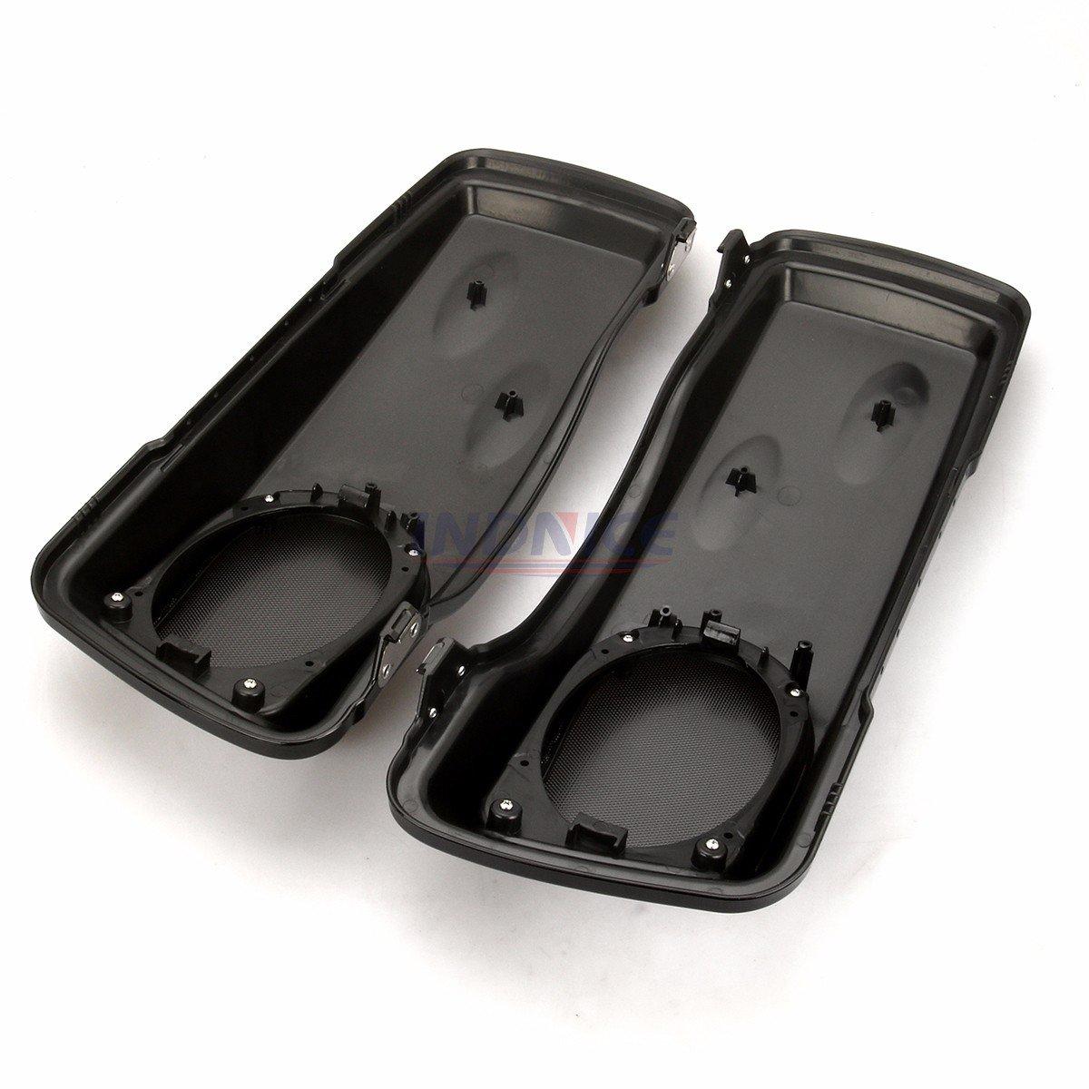 couvercle de sacoche de haut-parleur Electra Glide Street Glide FLH FLTR FLHX FLHR 93-13 Couvertures de sacoches de haut-parleur CVO Style 5x7 pour Harley Road King 93-13