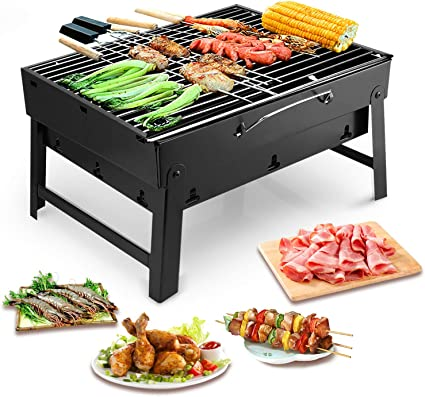 Uten Barbecue Portable Petit Barbecue à Charbon de Table Domestique (Moyen Barbecue)