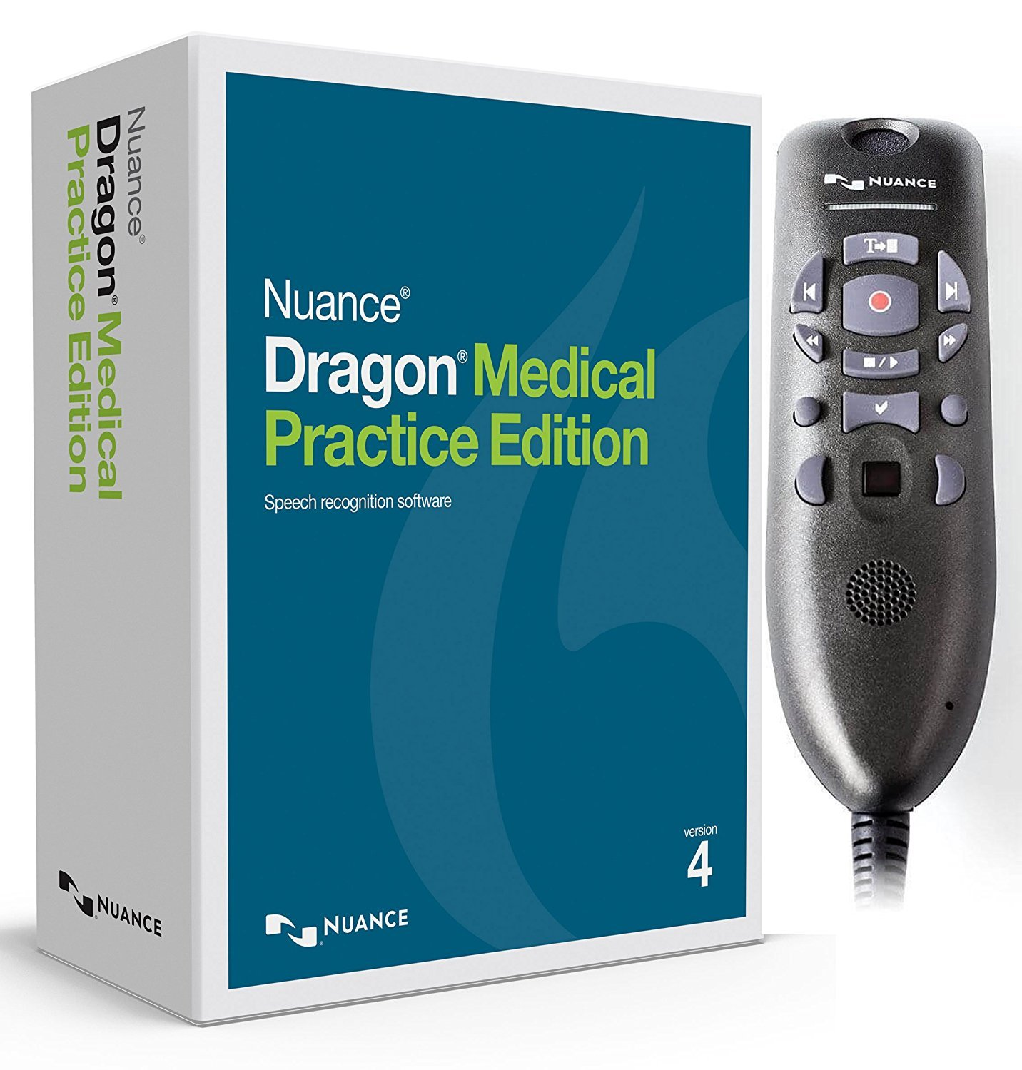 Dragon Medical Practice Edition 4 with Powermic III for Windows (Microphone with 3 ft Coiled Cord Stretches to 6ft)