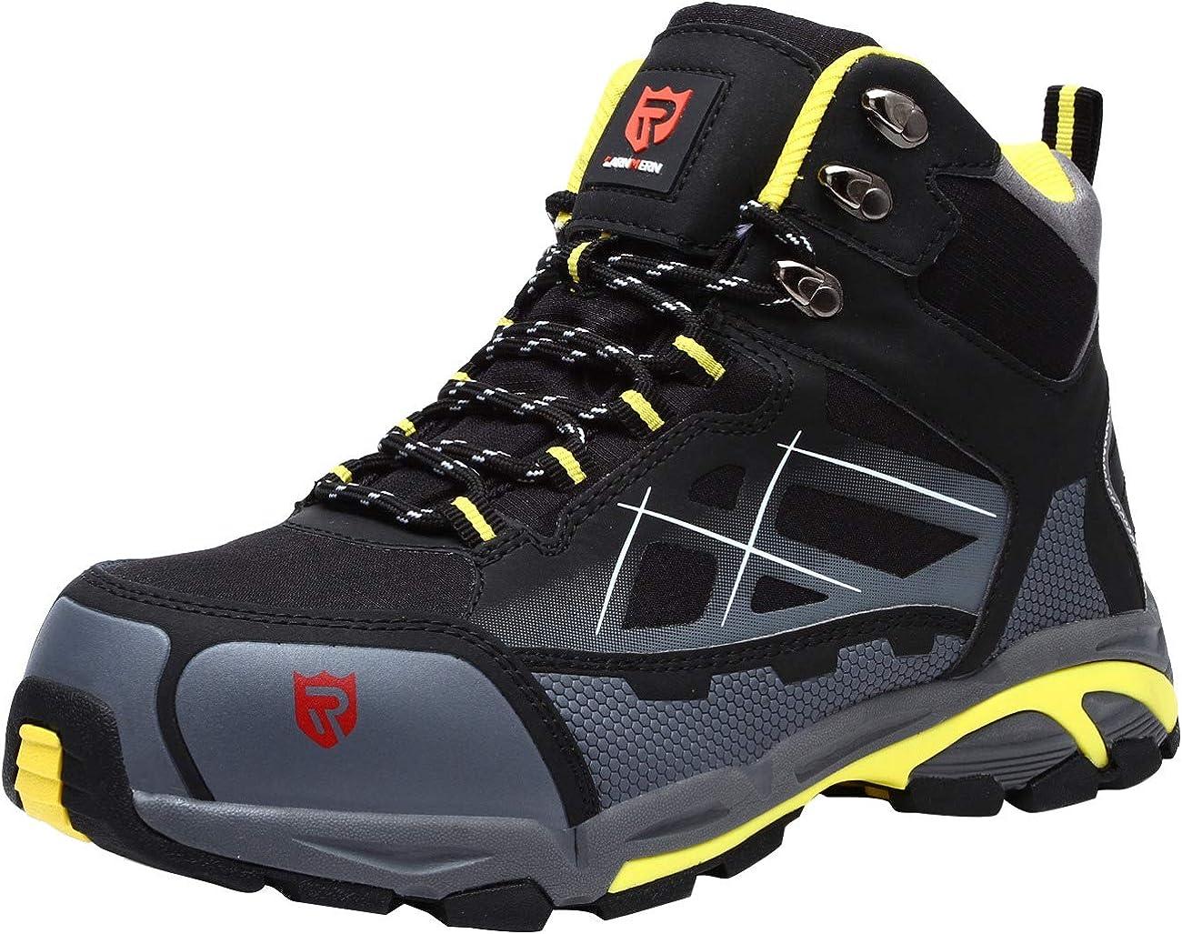 44.5 EU Gris LARNMERN Chaussure de Securit/é Unisex Imperm/éable S3 SRC Antid/érapantes Basket Securit/é Embout en Acier Anti-Perforation Chaussures de Travail L/éger