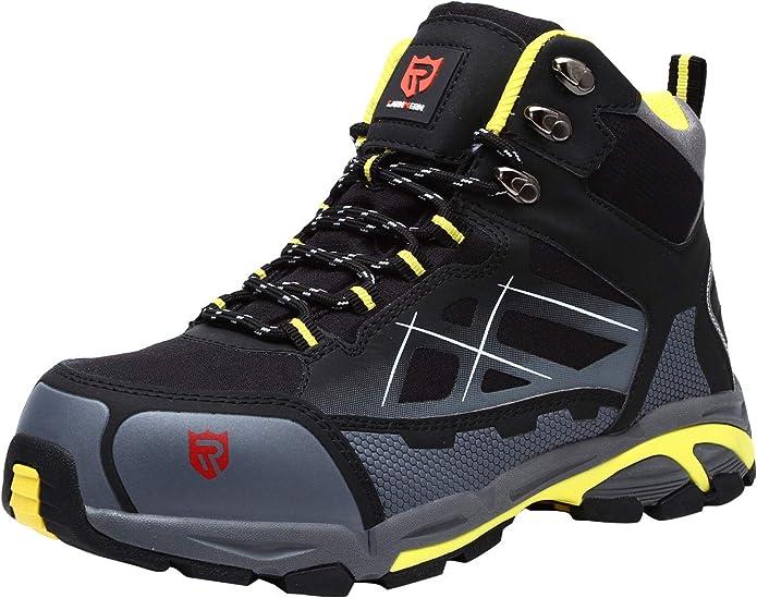 LARNMERN Zapatos de Seguridad para Hombre Puntera de Acero