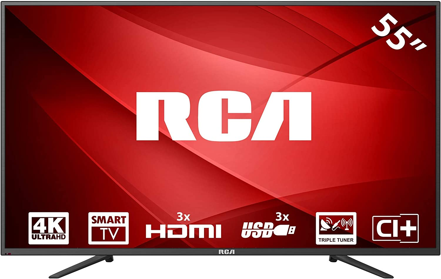RCA RS55U1-EU 4K Smart LED TV (55 Pulgadas, Triple Tuner, HDMI, Ci+, Reproductor de Medios a través de USB 2.0, 60Hz): Amazon.es: Electrónica