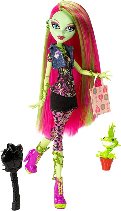 Amazon Com Monster High Doll Venus Mcflytrap Daughter Of The Plant Monster Toys Games