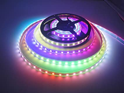Buy Skelshop Ws2811 Ws2812b 60leds Rgb Pixel Strip Lights Dream Colour Ribbon Lighting Waterproof 5050 Smd Led Tape Light 5v 1m Black Pcb Online At Low Prices In India Amazon In
