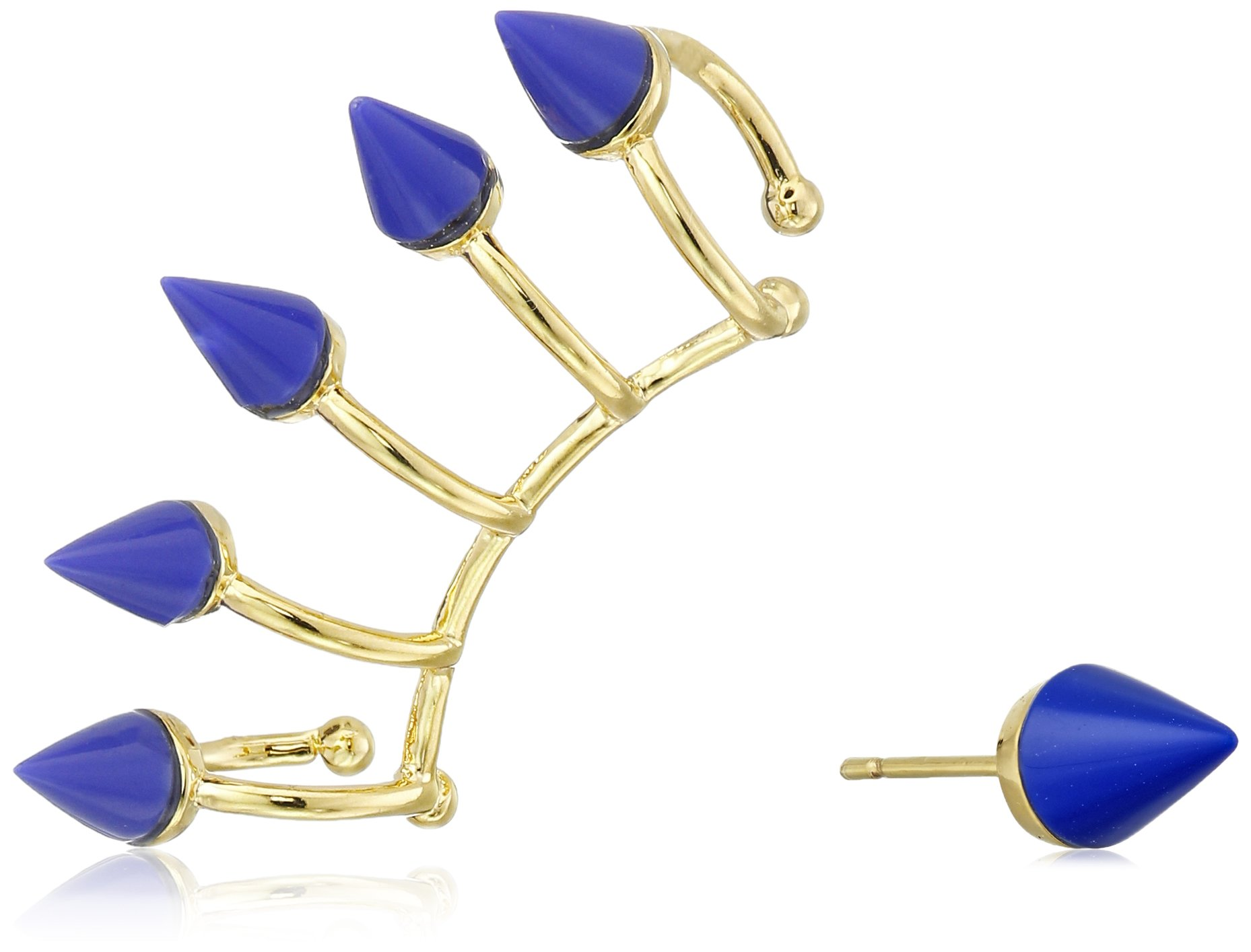 Noir Jewelry ''Memphis'' Nathalie Earrings and Ear Cuffs