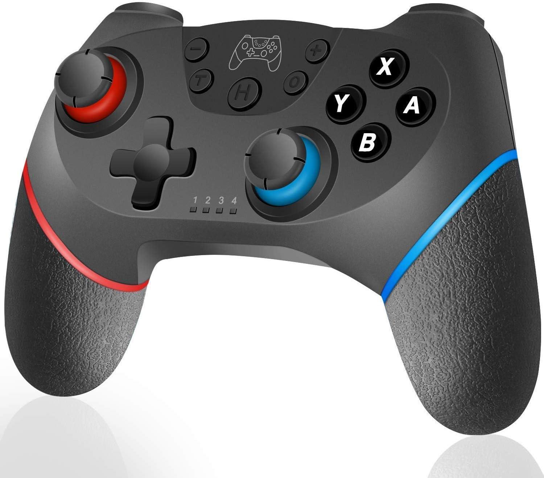 Lunriwis Inalámbrico Mando para Switch,Wireless Bluetooth Gamepad con Somatosensorial de 6 Ejes Turbo Función Ajustable Motor de Doble Vibración