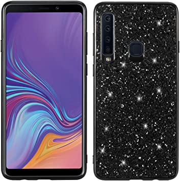 Proteja su teléfono Celular Estuche Protector de TPU a Prueba de Golpes y Polvo de Brillo para Galaxy A9 (2018) / A9s para el teléfono Celular de Samsung (Color : Negro): Amazon.es: Electrónica