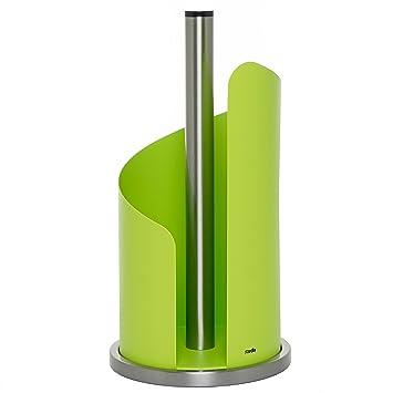 Halter für küchenrolle  stardis Küchenrollenhalter Edelstahl, grün matt Rollenhalter für ...