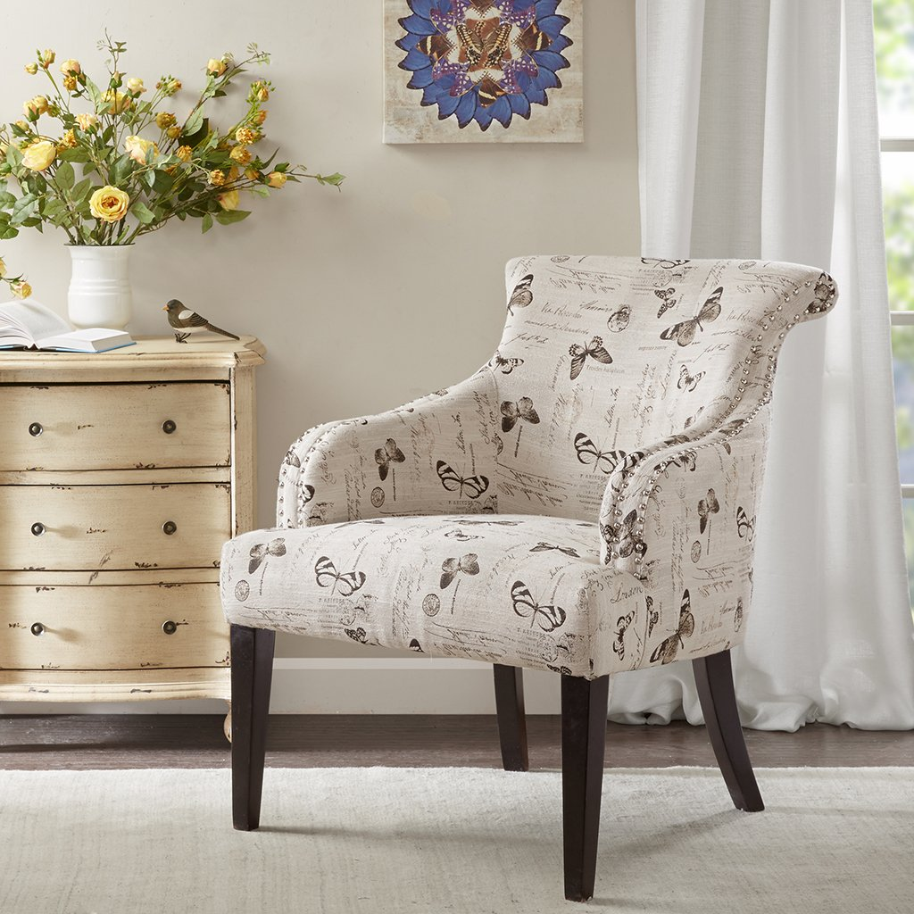 Alexis Rollback Accent Chair Multi See below