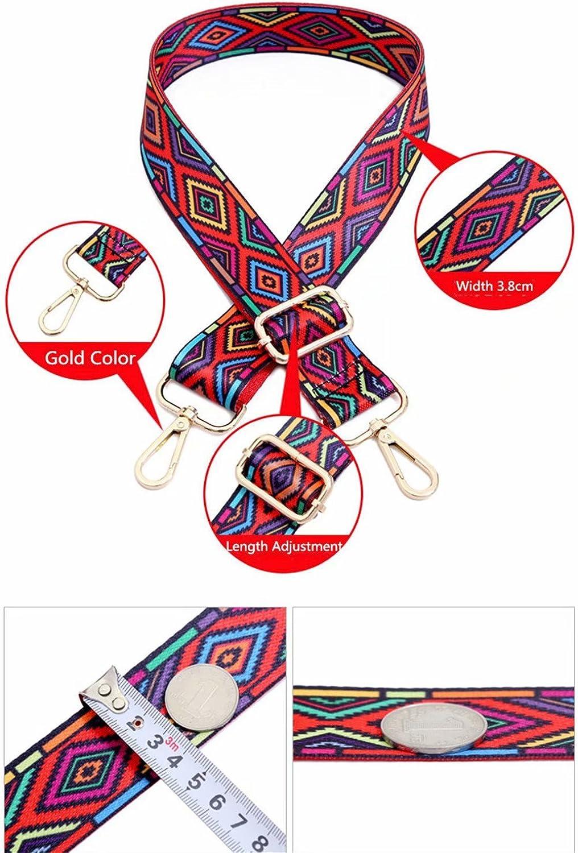 Mode Damen Taschengurt Bunter Schultergurt l/ängenverstellbarer breiter Tragegurt Schultergurt f/ür Handtaschen 78-140cm-Schultergurt f/ür Handtaschen DIY Zubeh/ör