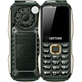 Rugum T8600 Robuste 2G GSM Handy, Outdoor Militär Telefon mit Power Bank Aufladefunktion, 6800mAh Große Batterie, 1.8Zoll Display, Zwei SIM Karte, Dual Taschenlampe ausgestattet, Acht Sprache (Grün)