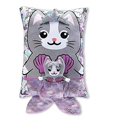 Justice Meowmaid Pouch Pillow: Home & Kitchen