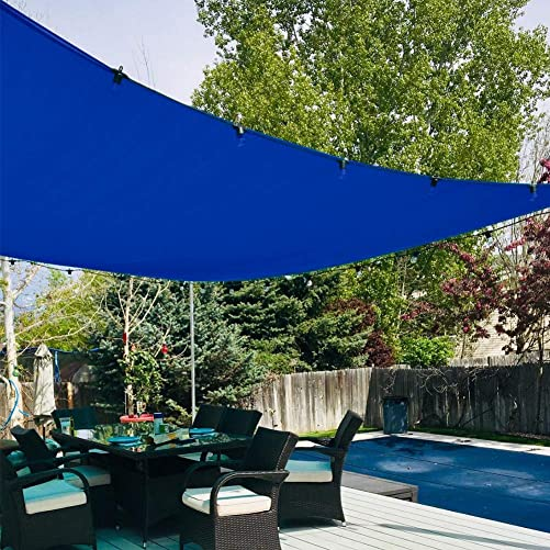 Quictent 24X24FT 185G HDPE Square Sun Shade Sail Canopy 98 UV Block Outdoor Patio Garden