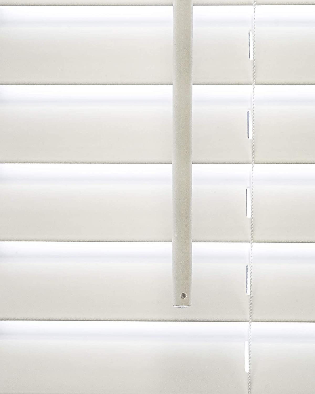 CHICOLOGY Cordless 2-in Faux Wood Blinds 36 W X 48 H Basic White
