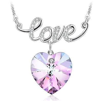 Amazon girlfriend gifts the crushpurple heart pendant girlfriend giftsquotthe crushquotpurple heart pendant necklace with swarovski crystals aloadofball Choice Image