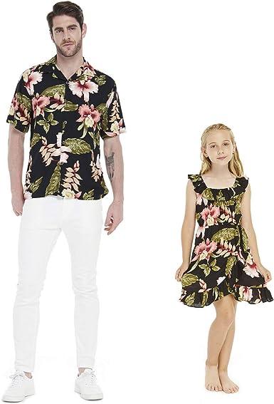 Vestido Hawaiano Luau a Juego para Hombre, Camisa y Chica ...